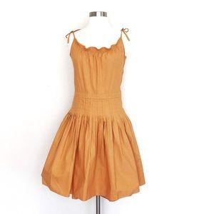Marc Jacobs Polka Ruffled Pleated Cotton Dress M